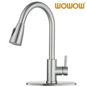 WOWOW Top Bewäert Pull Down Kitchen Faucets Single Hole
