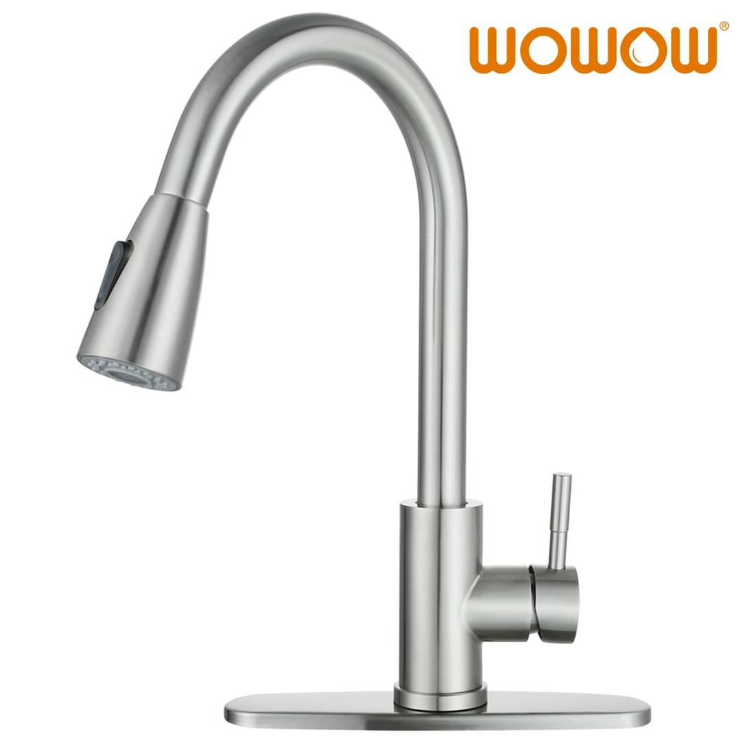 High End Kitchen Faucet Brushed Nickel Pull Down