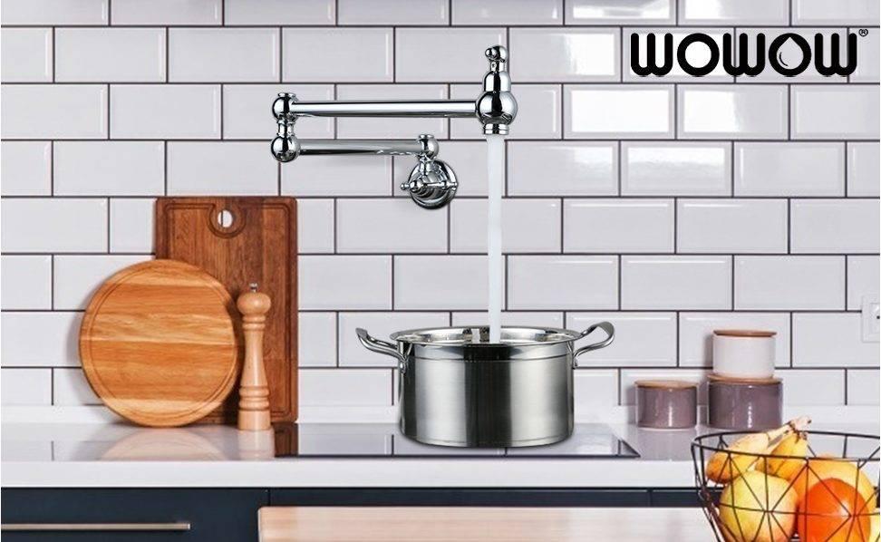 WOWOW Kasuwancin Kitchen Tukunyar Cinya Taliya Arm Chrome
