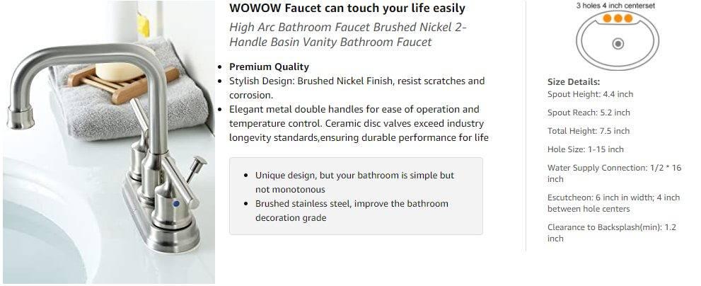 WOWOW Черный Смеситель для ванной комнаты с отдельной ручкой и поворотным изливом