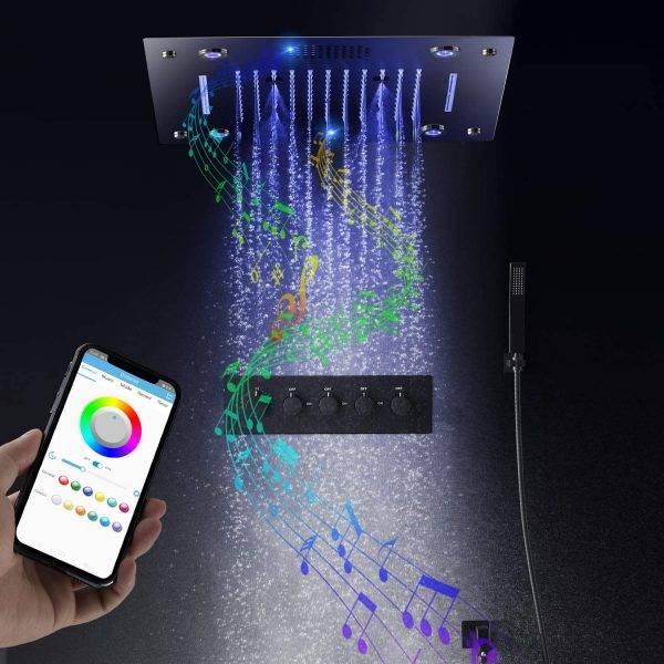 מערכות מקלחת LED למוזיקה